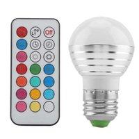 3W E27 Sockel RGBW LED 16 Multi-Color-Wechsel-Glühlampe mit Fernbedienung