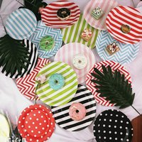 Disposable Dinnerware Tableware Party Paper Plate Cake Dish Birthday Decoration Supplies Wedding Ice Cream Tools 8 Pc lot