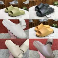 adidas yeezy 2021 nouvelles pantoufles de Kanye West Slippery osseux osseux de la terre brun du désert sable sable sable résine chaussures de mode