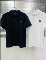 Double Piqué Baumwolle Polohemd Lässige Sommer Atmungsaktive Massivfarbe Top Qualität T Shirts 21SS Frühe Frühling Herren T-Shirt Designer Buchstaben gedruckt