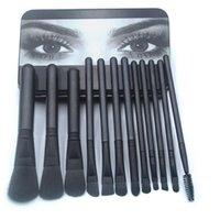 Pinceles de maquillaje 12pcs Polvo Sombra de ojos Profesional Cepillo cosmético