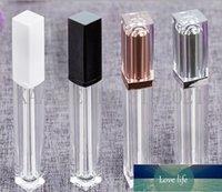 7ML Top Grade Rose Gold Empty Refillable Lipgloss Tube , Square Silver Lip Gloss Bottles,Plastic Liquid Lipstick Container