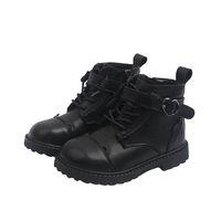 Girls Boys Boots Kids Shoes Children Footwear Childrens Short Boot Autumn Winter Moccasins Soft Cowhide Leather Shoe B8677