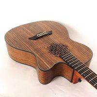 Chitarra acustica elettrica abete di abete rosso del foro del flower con chitarra acustica elettrica con la chitarra popolare di EQ 40 pollici per il principiante o il lettore medio-grado