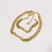 Joyería de lujo de diseñador Mujeres oro gruesa cadenas diseñador collar de diseñador para niña letra d Hip hop collar de moda moda joyería fina hombres pulsera