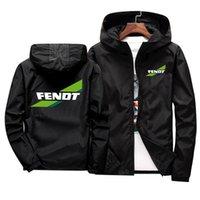 Felpa con cappuccio da uomo Felpe 2021 Giacca da moto Antivento per Fendt Logo Mobike Guida con cappuccio Suit Vintage Corse Corse Zipper Coat