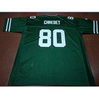 Goodjob Men Youth women Vintage 1997 Wayne Chrebet #80 Football Jersey size s-5XL or custom any name or number jersey