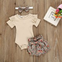 Kids' baby   Toddler apricot tights and floral shorts with Headband Set