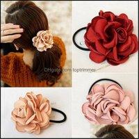 Gereedschappen Producten Mode Vrouwen Assories Simation Flower Rubber Band Camellia Rose Begeleid aan Elastische Haarbanden Hoofdtooi Daling Levering 20