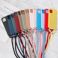 Strap Cord Chain Necklace Lanyard Phone Case For Xiaomi Mi 11 Lite 5G 10T 10 9 SE Note 10 Pro Poco F3 M3 X3 Matte Soft Tpu Cover