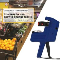 Tag Gun With Two Ink Wheel Lightweight Handheld 8 Digits Price Labelling Makers For Market