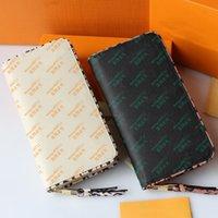 Одиночная молния кошелек деньги монеты мужские кожаные кошелек держатель карты длинные бизнес женские кошельки с коробкой