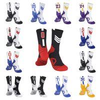203 EE.UU. EE.UU. Professional Elite Basketball Socks Mens Long Knee Atlético Deporte Calcetines Moda Caminando Corriente Tenis Compresión Calcetines térmicos Hombres