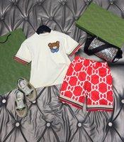 Tasarımcı Çocuklar Rahat Etekler Setleri Beyaz Tees + Kırmızı Şort Pamuk Çocuk Takım Elbise Marka Kız Giyim Otton Tees Boyutu 100-150 Kardeşi ve Kardeş Kostüm