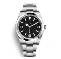 럭셔리 남성 시계 exp air king series 116900 및 216570 블랙 40mm 다이얼 자동 기계 운동 316 강철 브랜드 디자이너 시계