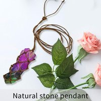 Pendant Necklaces Natural Gemstones Healing Crystal Plating Colorful Vintage Necklace For Women Clothing Accessories Special Gifts Holiday