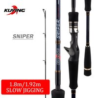 Barras de pescar barras KUYING Sniper 1.5 Secciones 1.8m 1.92m Luz Lindo Lento Rod Casting Spinning Leure Fibra de carbono Mar Caña Pole
