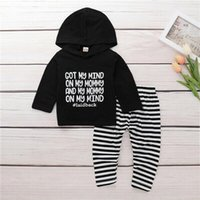 Clothing Sets Baby & Children's 0-24M Toddler Born Boy Girl Outfits Clothes Hoodie Tops+ Striped Pants Legging Set