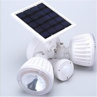 Outdoor Wall Lamps Emergency LED Solar Panel Double Spotlight Light Waterproof Garden Street Lamp Energy Saving Motion Sensor Garland