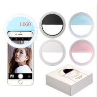 Fabricant Chargement de LED Flash Beauté Fill Selfie Lampe Selfie Bague de Selfie Lumière rechargeable pour tous les téléphones mobiles