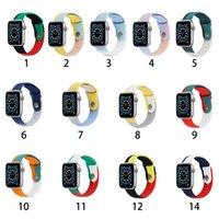 Silicone Smart Watch Staraps ل Apple iWatch 6 5 4 3 2 38mm 40mm 42mm 44mm لون النقيض