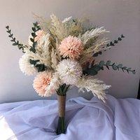 Gelin Buketi Yapay Güller Düğün Buket Nedime Gelin Düğün Çiçekleri Gelin Buketi Evlilik Aksesuarları