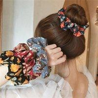 헤어 액세서리 여자 scrunchies 꽃 넥타이 달콤한 여자 장미 꽃 탄성 밴드 모래톱 포니 테일 홀더