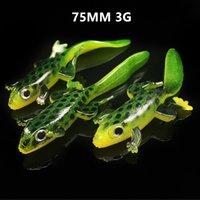 20 pz / lotto 75mm 3.5g Elliot rana in silicone pesca pesca esca morbida esche esche pesca tackle da pesca B86-310