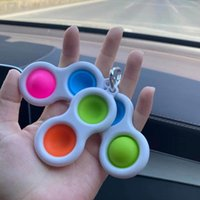 DHL Envío Push Push Bubble Llavero Fidget Toy Sensory Autismo Necesidades especiales Fidget Squeeze Funny Anti-Stress Stress Relevalver Juguetes