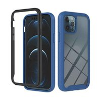 3 in 1 Hybrid Hard PC Soft Silicone Phone Cases For iPhone 12 Pro Max Heavy Duty Rugged Bumper Shockproof Anti-Scratch Dual Layer Protective Cellphone Covers