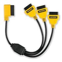 Ferramentas de diagnóstico Autool OBD2 Y Cabo de Divisor 50 cm 1 a 3 adaptador do conversor cabo de extensão do adaptador