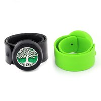 Tennis Tree Of Life 25mm Silicone Slap Bracelet Bangle Kids Essential Oil Wristband Diffuser Aroma Locket Stainless Steel Jewelry Gift
