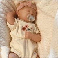 RBG 19 인치 요하나 잠자는 재 탄생 아기 생생한 비닐 인형 도색되지 않은 미완성 부분 DIY 빈 키트 선물 LOL 장난감