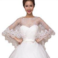 Mulheres Lace Nupcial Xailes Branco Marfim Casamento Bolero Jacket Alta Qualidade 2020 Elegante Bride Wraps Frete Grátis