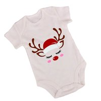 Christmas Newborn Outfits Girls Clothing Sets Baby Clothes Infant Suits Wear Short Sleeve Jumpsuit Romper Tutu Skirts Flower Headbands 3Pcs B8485