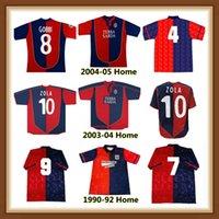 1990 1992 2003 2003 2004 2005 Cagliari Retro Soccer Jersey 90 92 03 04 05 05 Zola David Suazo Gobbi Esposito Lopez خمر كلاسيكي لكرة القدم قميص