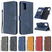 Klasik Kitap Stil Deri Flip Case Samsung Galaxy S21 S20 Ultra Artı Lüks Manyetik Cüzdan Kapak Galaxy A71 A51 5G Note20ultra