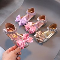 Children's Shoes Girl Sandals Autumn Casual Glitter Bowknot Children Girls Shoe Fashion Princess Dance Party Sandal