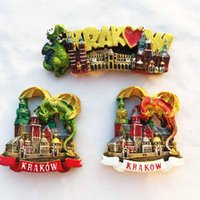 Fridge Magnets QIQIPP Landmarks In The Old City Of Krakow, Poland Magnetic Stickers For Tourist Souvenirs Refrigerator