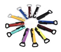 4 In 1 Multifunction Bottle Opener Non-slip Double Head Red Wine Opener Knife Pull Tap Hinged Corkscrew Kitchen Bar Tool