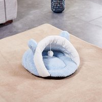 Cat Beds & Furniture Cute Bed Warm Pet Basket Cozy Kitten Lounger Cushion House Tent Very Soft Small Dog Mat Bag For Washable Cats