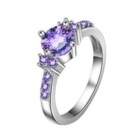 2020 New Luxury Women Faux Inlaid Finger Ring Wedding Engagement Party Jewelry Decor Accessory Gift For Women