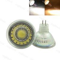 Светодиодная лампочка 5W COB Кварцевый стекло + акриловый MR16 AC / DC 8V-24V 80ra Теплый белый светильник Spotlight заменить галоген