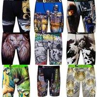 브랜드 남성 복서 속옷 디자이너 스포츠 짧은 복서 비치 수영 트렁크 바지 낙서 복서 간단한 underpants S-2XL H22501