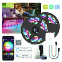 Wifi Addressable Smart Pixel Led Strip Light Kit Magic Home Wifi Voice Control Sync to Music Compatible with Alexa Google Home