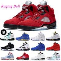 5 Raging Boğa Basketbol Ayakkabı Erkek Eğitmenler 5 S Stealth Hyper Royal Ne Top 3 ManbasketBoes Spor Sneakers Boyutu 7-13