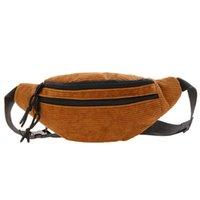 Waist Bags Vintage Corduroy Bag Fanny Pack Side For Women Heuptas Riñonera Niña Bolso De Pecho Sac Femme Bandouliere Chest