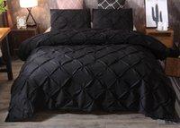 Literie NOUVEAU 3PCS Noir 4 Taille de lit Ensembles de draps Cadeau Cadeau Housse de couette en polyester Fibre Home Hôtel