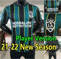 Jogador Versão 2021 2022 La Galaxy Futebol Jerseys Pavon Chicharito J.dos Santos Lletget Corona Katai Football Shirts Homens + Kids Kit