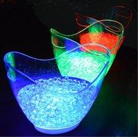 Party Dekoration 8l Bar LED Eis Eimer Acryl leuchtender Fass wiederaufladbare Eimer Champagner Bierkunststoff